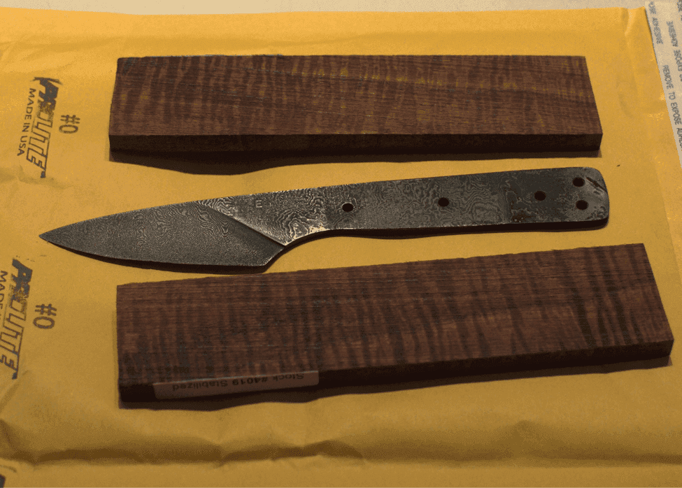 Koa wood scales paring knife handle
