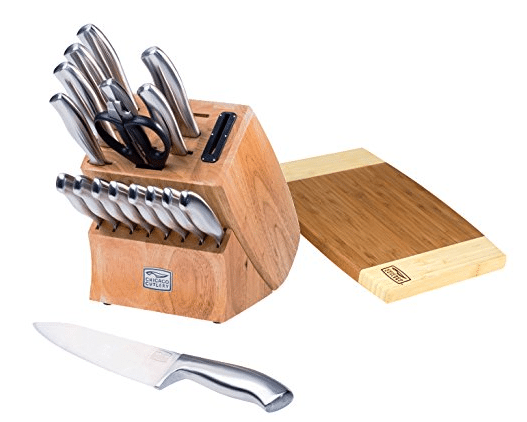 19 piece with cutting board