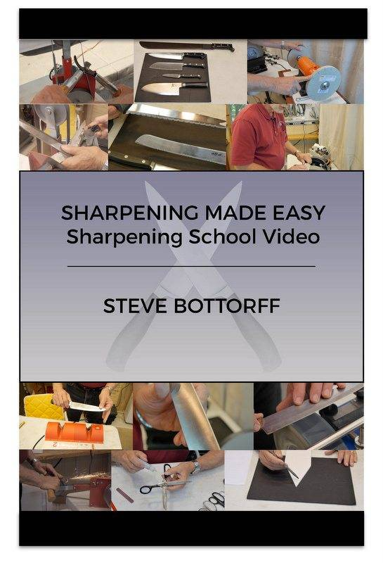 Knife sharpening school video.