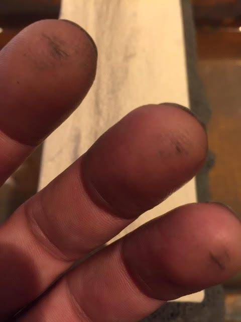 test on fingers