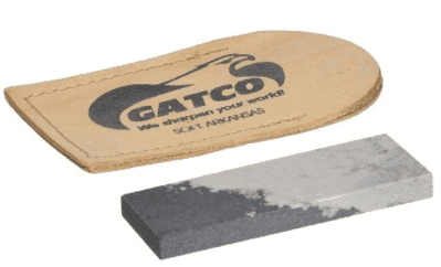 The GATCO Soft Arkansas pocket stone.