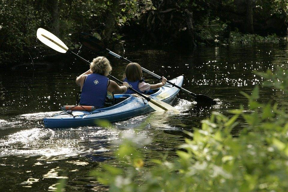 kayak on river