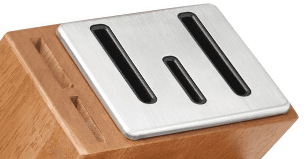 The self sharpening knife block.