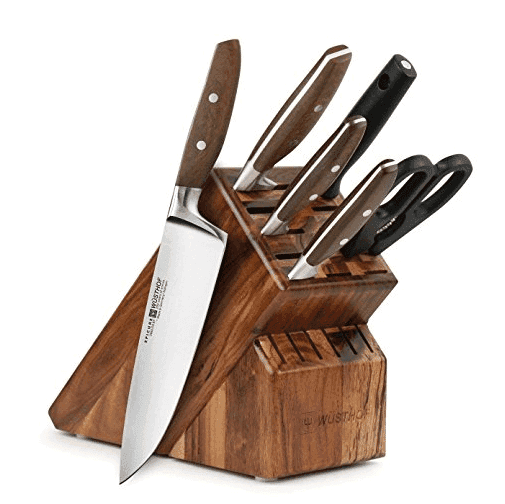 The Epicure 7-piece knife set. Durable and beautiful.